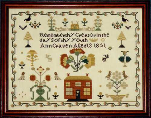 click here to view larger image of Anne Craven Sampler (chart)