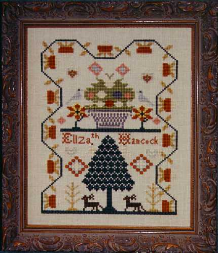 click here to view larger image of Elizabeth Hancock ca. 1830 Sampler (chart)