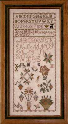 click here to view larger image of M.B. ca. 1810 Sampler (chart)