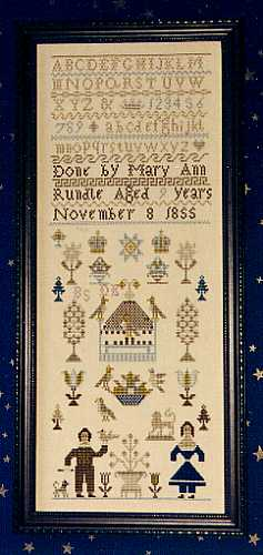 click here to view larger image of Mary Ann Rundle Sampler (chart)