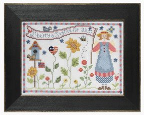 click here to view larger image of Welcome Home Calendar Series July - Liberty and Justice (counted cross stitch kit)