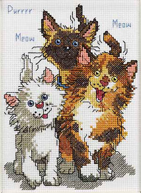 click here to view larger image of Cattails of Duckport - Suzy's Zoo (counted cross stitch kit)
