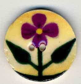 click here to view larger image of Purple Violet on Beige (buttons)