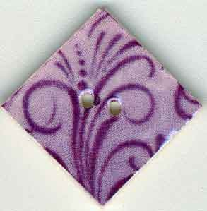click here to view larger image of Lilac Flourish Diamond  (buttons)