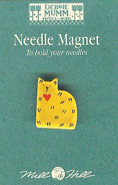 click here to view larger image of Gold Quilt Cat Magnet (magnet)