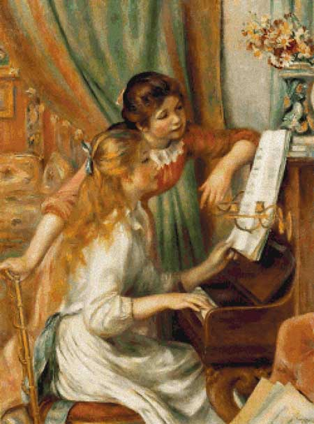 click here to view larger image of Young Girls At The Piano (chart)