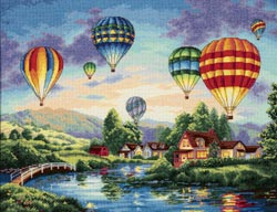 click here to view larger image of Balloon Glow (counted cross stitch kit)