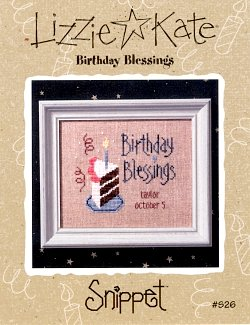 click here to view larger image of Birthday Blessings - Snippet (chart)