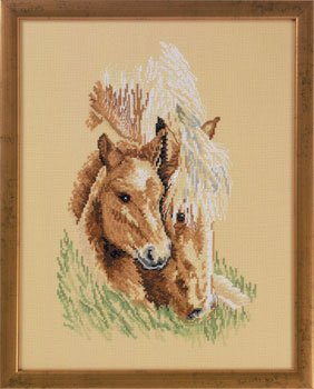 click here to view larger image of Horse Heads (counted cross stitch kit)