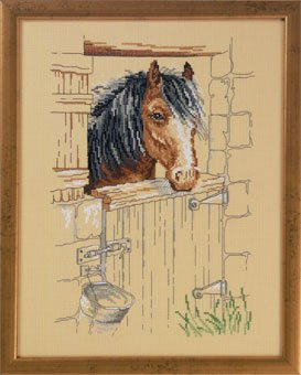 click here to view larger image of Horse Stable (counted cross stitch kit)
