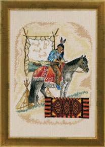 click here to view larger image of Indian/Horse (counted cross stitch kit)
