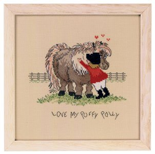 click here to view larger image of Love My Puffy Polly Horse (counted cross stitch kit)