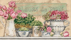 click here to view larger image of Flowers Of Paris  (counted cross stitch kit)