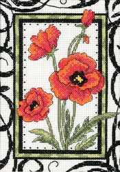 click here to view larger image of Blooming Poppies  (counted cross stitch kit)