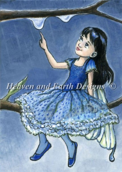click here to view larger image of Rain Drop Fairy - Quick Stitch (chart)