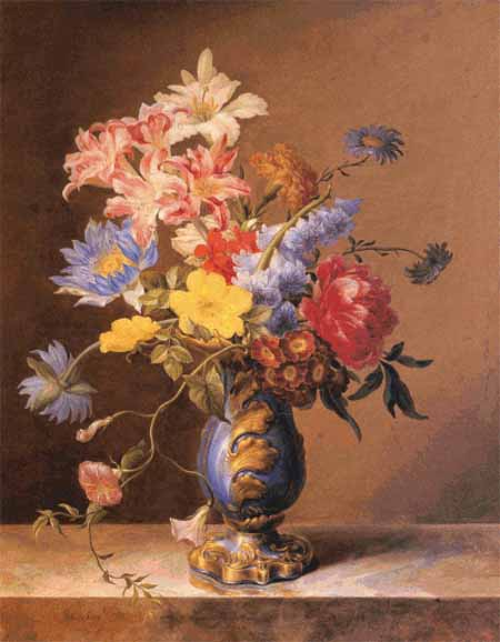 click here to view larger image of Flowers In A Blue Vase (chart)