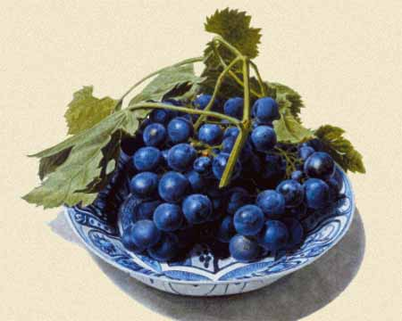 click here to view larger image of Delft-made Dish with Grapes  (chart)