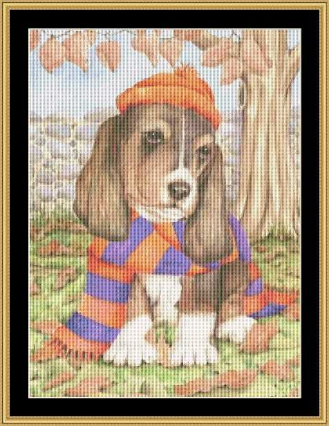 click here to view larger image of Autumn Dog (chart)