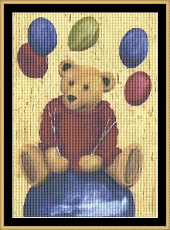 click here to view larger image of Birthday Bear (chart)