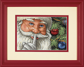 click here to view larger image of Santa's Secret (counted cross stitch kit)