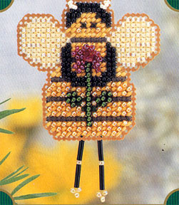 click here to view larger image of Beatrice Bee (counted cross stitch kit)