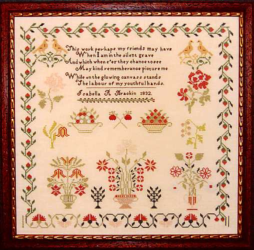 click here to view larger image of Isabella Brackin 1832 Sampler (chart)
