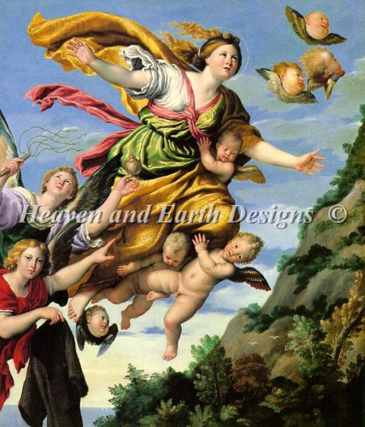 click here to view larger image of Domenichino-The Assumption of Mary Magdalene into Heaven (large print) (chart)