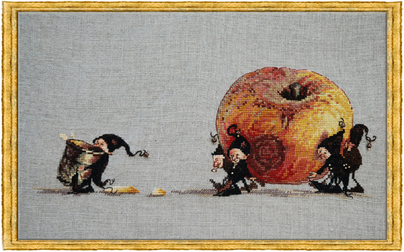 click here to view larger image of Apple (Pomme) - kit (counted cross stitch kit)