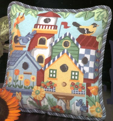 click here to view larger image of Birdhouses (needlepoint)
