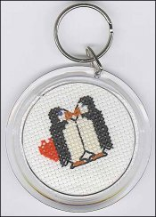 "click here to view larger image of Round Key Chain 2 1/4"" (stitchable)"