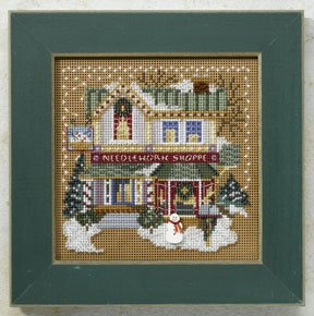 click here to view larger image of Needlework Shop - Christmas Village (counted cross stitch kit)