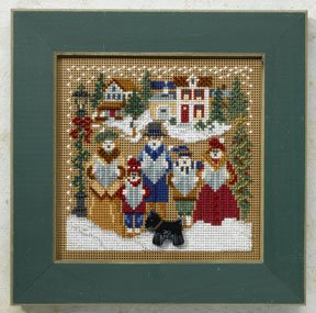click here to view larger image of Caroling - Christmas Village (counted cross stitch kit)