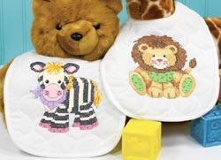 click here to view larger image of Baby Express Bibs (stamped cross stitch kit)