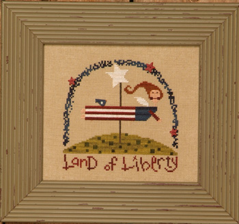 click here to view larger image of Americana Angel Kit (counted cross stitch kit)
