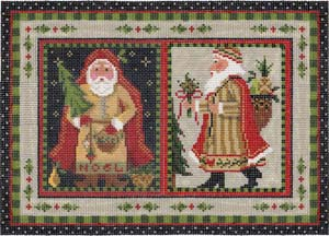 click here to view larger image of Nordic Santa Pillow (hand painted canvas)