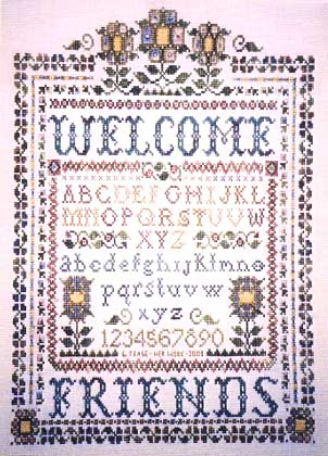 click here to view larger image of Victorian Welcome, A (chart)
