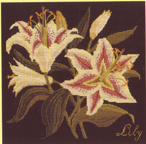 click here to view larger image of Botanical Garden - Lily (needlepoint)