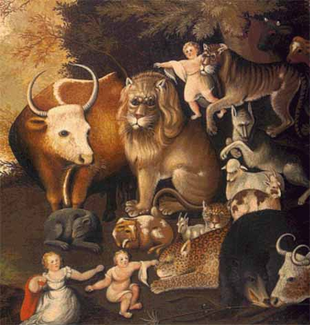click here to view larger image of Peaceable Kingdom (detail) (chart)