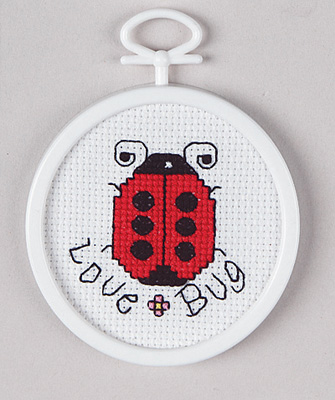 click here to view larger image of Love Bug (counted cross stitch kit)