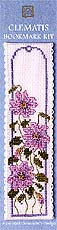 click here to view larger image of Clematis  Bookmark (counted cross stitch kit)