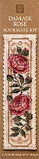 click here to view larger image of Damask Rose Bookmark (counted cross stitch kit)