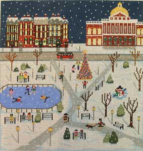 click here to view larger image of Boston Common In Winter (hand painted canvases)