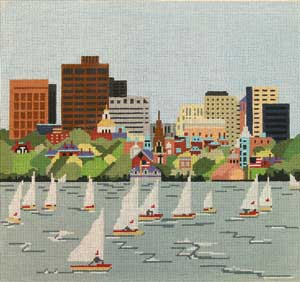 click here to view larger image of Charles River, The (hand painted canvases)