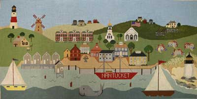 click here to view larger image of Nantucket Harbor (hand painted canvases)