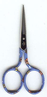 click here to view larger image of Blue Floral Embroidery Scissors (accessory)
