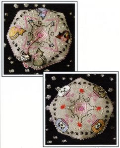 click here to view larger image of Cat Lovers Biscornu (chart with charms/buttons)