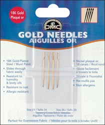 click here to view larger image of DMC Gold Tapestry Needles - Size 24/26 (needles)