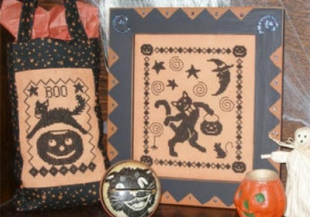 click here to view larger image of One-Color Wonders - Black Cats Halloween (chart)
