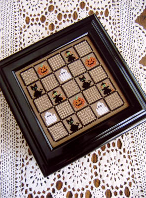 click here to view larger image of Halloween Squares And Sampler Stitches (chart)