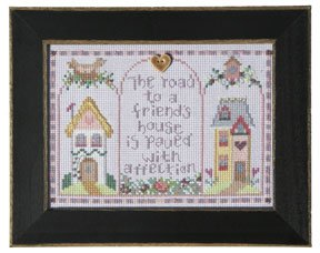click here to view larger image of Welcome Home Calendar Series August - A Friend's House (counted cross stitch kit)